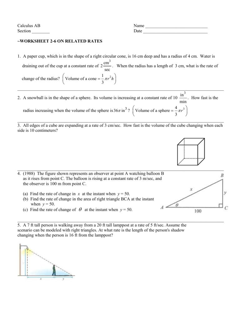 Worksheet 22-22 For Constant Rate Of Change Worksheet